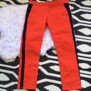 GAP Skinny Mini Tuxedo cigarette skinny pants Red